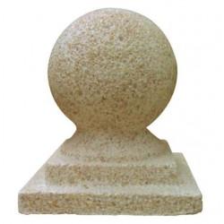 Remate de columna en forma de bola con base