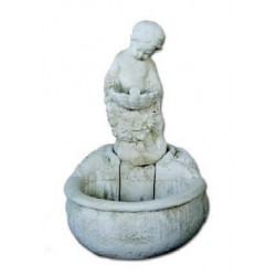 Fuente de Jardín niña con concha