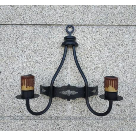 Aplique de pared 2 bombillas