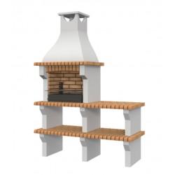 Barbacoa de obra prefabricada modelo Sevilla con bancada