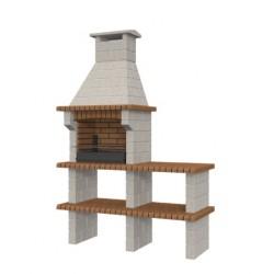 Barbacoa de obra prefabricada modelo Asturias con bancada