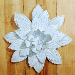 FLOR METAL PARED 3D